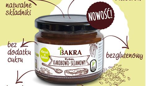 Nowość! Krem karobowo-sezamowy – naturalna słodycz w zdrowej formie!